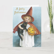 HALLOWEEN WITCH Party Invitation Card card