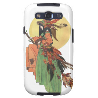 Halloween Witch Passes through the Moonlight Galaxy SIII Case