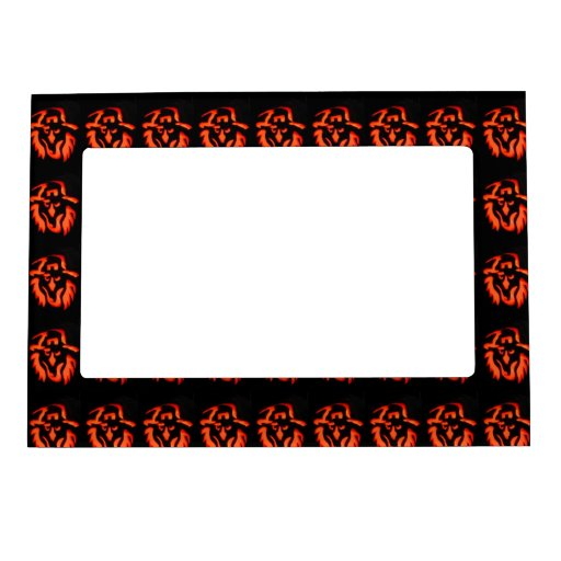 Halloween Witch Pattern Magnetic Picture Frame