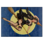 Halloween Witch Pin Up Girl Cutting Board