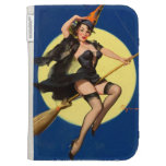 Halloween Witch Pin Up Girl Kindle Folio Cases