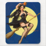 Halloween Witch Pin Up Girl Mouse Pad