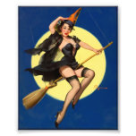 Halloween Witch Pin Up Girl Photo Print