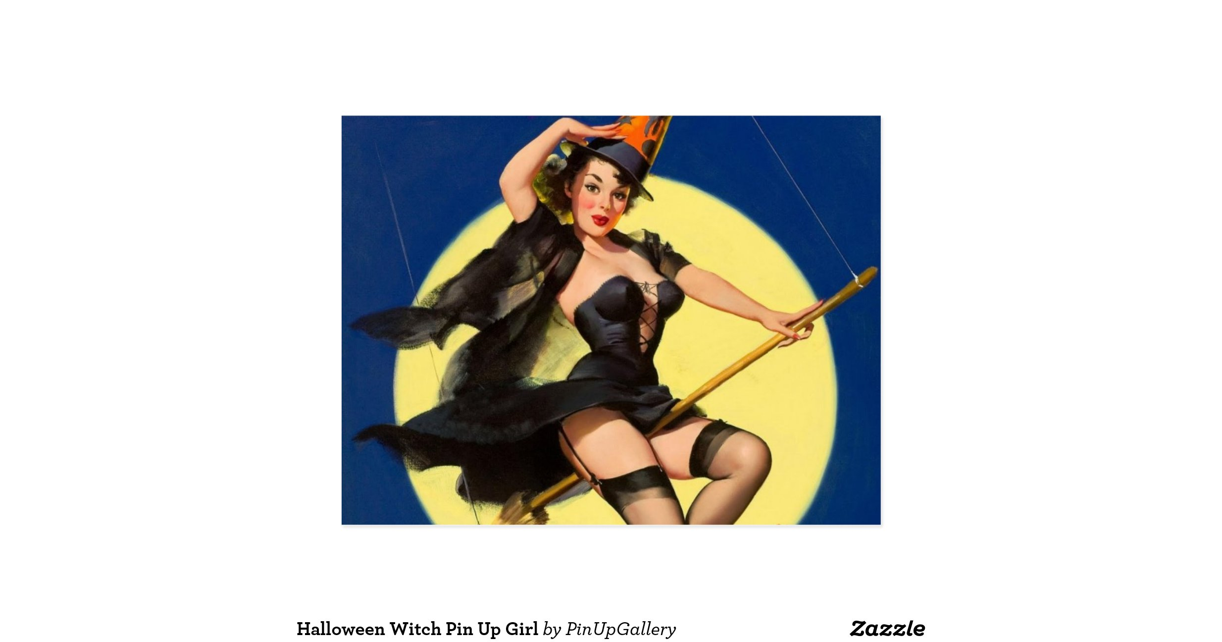 Halloweenwitchpinupgirlpostcard