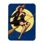 Halloween Witch Pin Up Girl Rectangular Photo Magnet