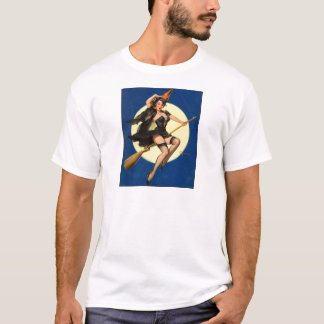 Halloween Witch Pin Up Girl T-Shirt