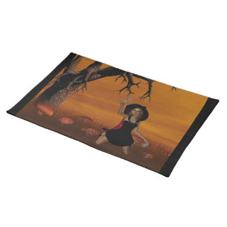 Halloween Witch Placemat Cloth Placemat
