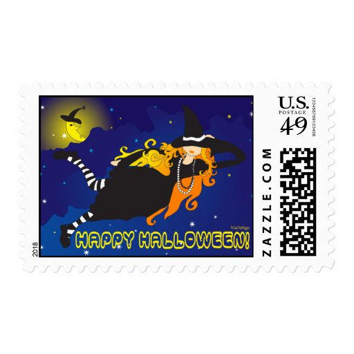 Halloween Witch Postage