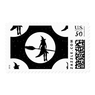 halloween witch postage postal stamps