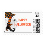 Halloween Witch Postage Stamp