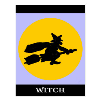 Halloween Witch Post Card