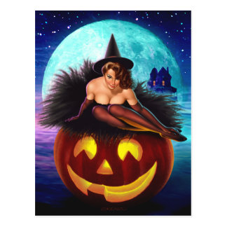 """""""Halloween Witch"""" Postcards"""
