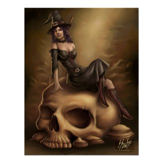 Halloween Witch Poster print