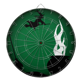 Halloween Witch Poster Background Dart Board