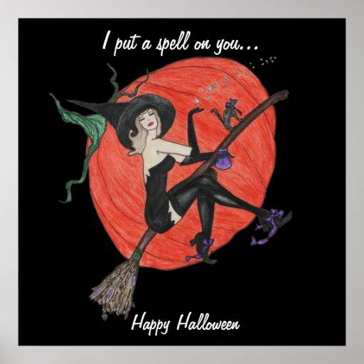 Halloween Witch Poster Decoration Zazzle