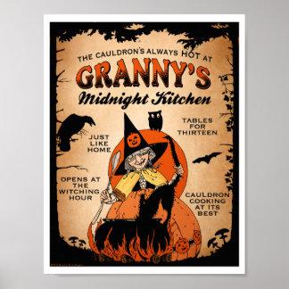 Halloween Witch Poster Granny s Midnight Kitchen