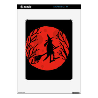 Halloween witch - red moon skins for iPad