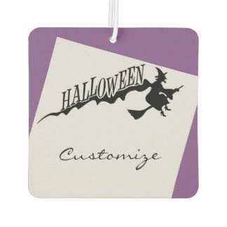 Halloween Witch Riding Broom Thunder_Cove Car Air Freshener