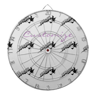Halloween Witch Riding Broom Thunder_Cove Dartboard With Darts