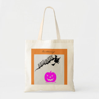 Halloween Witch Riding Broom Thunder_Cove Tote Bag