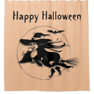 Halloween Themed Halloween Witch Shower Curtain