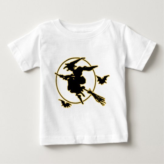 Halloween Witch Silhouette Baby T-Shirt