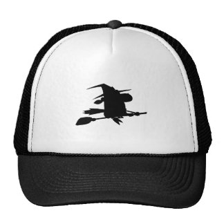 Halloween Witch Silhouette Cool Mesh Hats