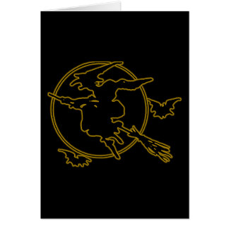 Halloween Witch Silhouette Greeting Card