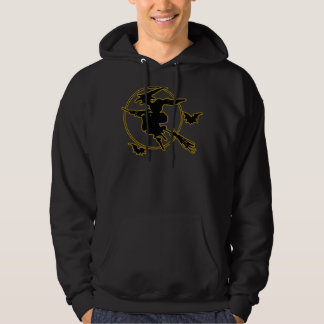 Halloween Witch Silhouette Hoodie