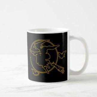 Halloween Witch Silhouette Classic White Coffee Mug