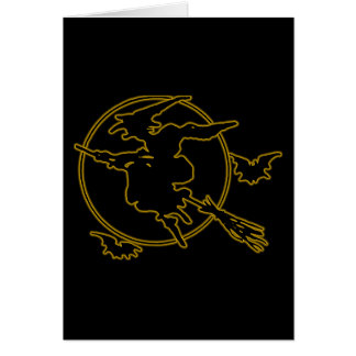 Halloween Witch Silhouette Stationery Note Card