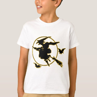 Halloween Witch Silhouette T-Shirt