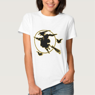Halloween Witch Silhouette T Shirts
