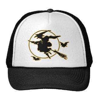 Halloween Witch Silhouette Trucker Hat
