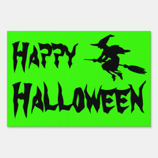 Halloween Witch Silhouette Yard Sign