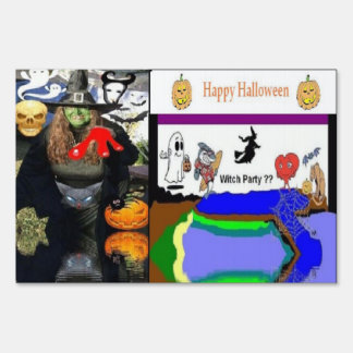 Halloween Witch Small SpeedySigns Yard Sign