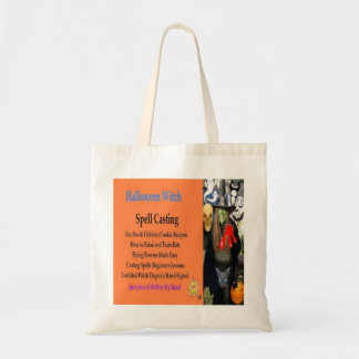 Halloween Witch Spell Candy Bag and Tote