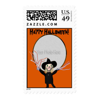 Halloween Witch Spell Photo Frame Postage