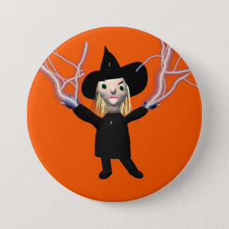 Halloween Witch Spell Pinback Button