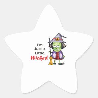 HALLOWEEN WITCH STAR STICKER