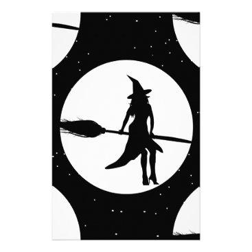 halloween witch stationery