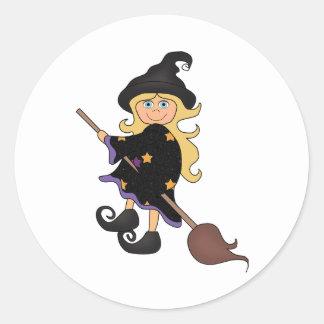 Halloween witch sticker