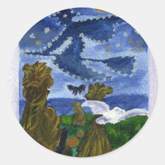 Halloween Witch Classic Round Sticker