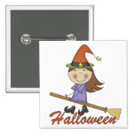 Halloween Witch T-shirts and Gifts Pin