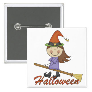 Halloween Witch T-shirts and Gifts Pinback Button