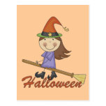 Halloween Witch T-shirts and Gifts Post Cards