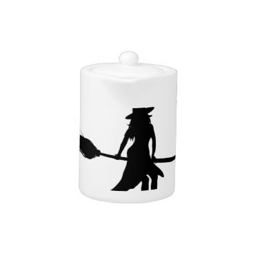 halloween witch teapot