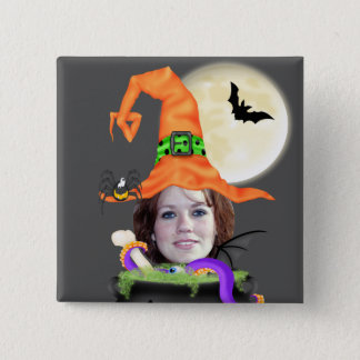 Halloween Witch Template Button