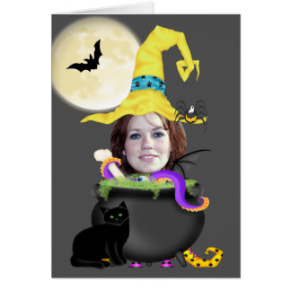 Halloween Witch Template Greeting Card