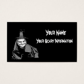 Halloween witch themed business and calling card